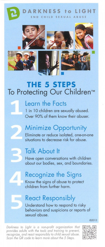 5 Steps to Protecting our Children - Recognize, React, Report